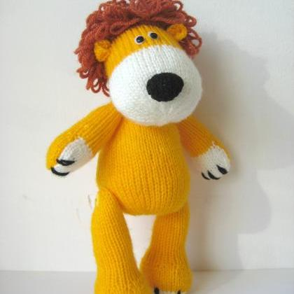 Free Knitting Pattern Toy Lion : Samson The Lion Toy Knitting Pattern on Luulla