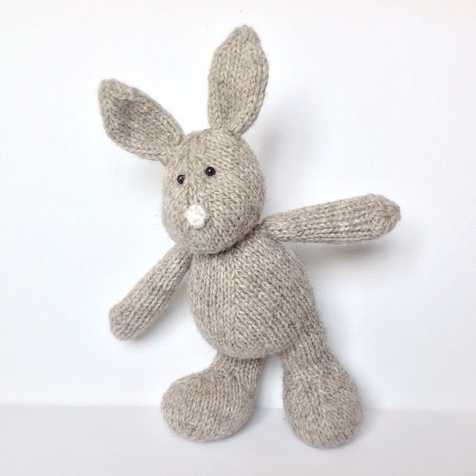 Knitted Rabbit Pattern : Pip The Bunny Toy Knitting Pattern on Luulla