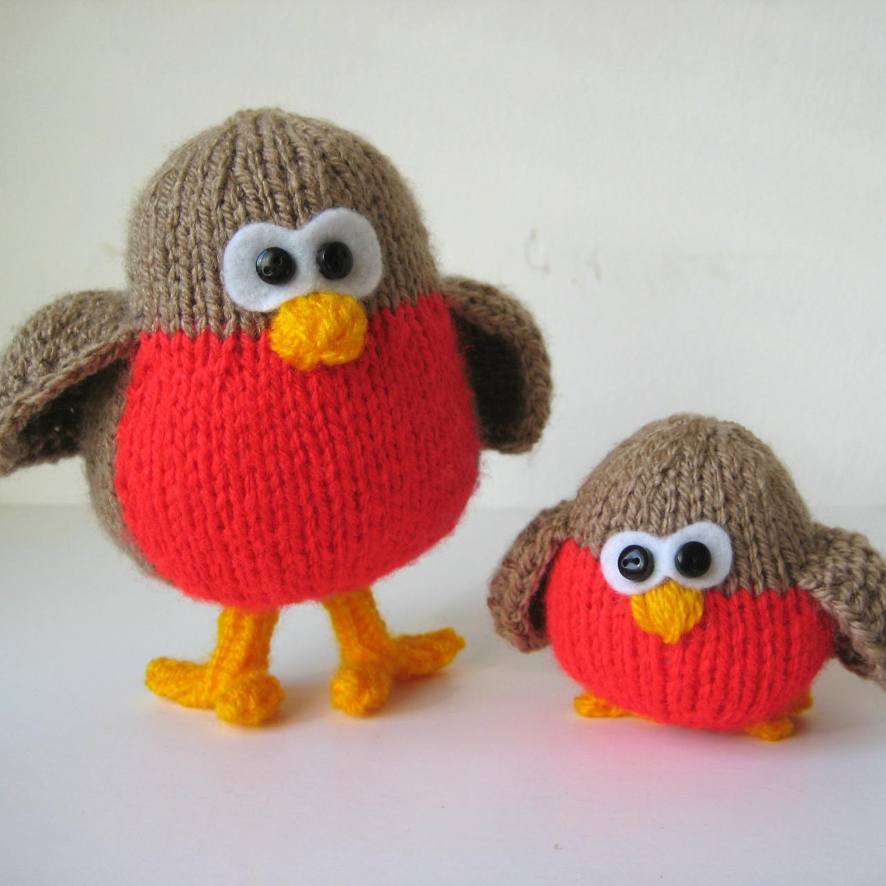 Rockin Robins Toy Knitting Patterns on Luulla