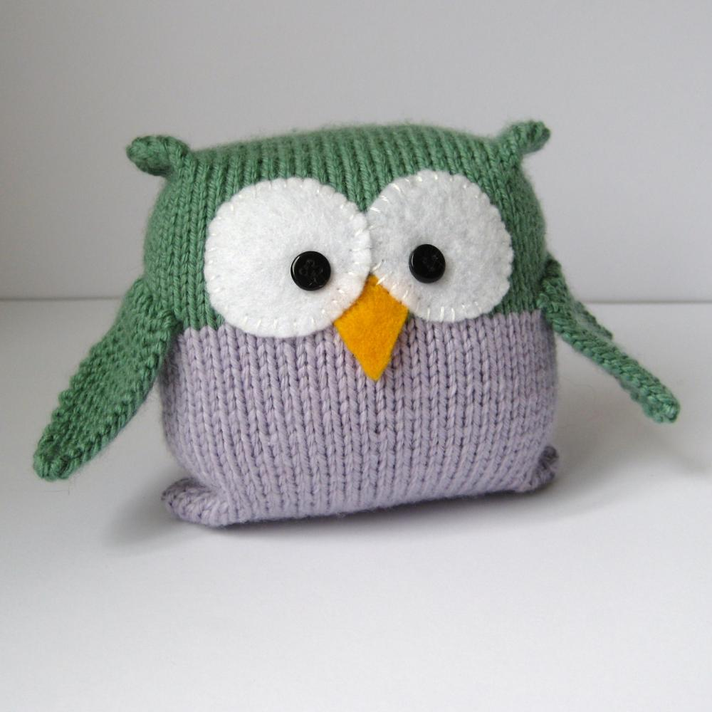 Knitting Patterns Toys : Tooley Owl Toy Knitting Pattern on Luulla