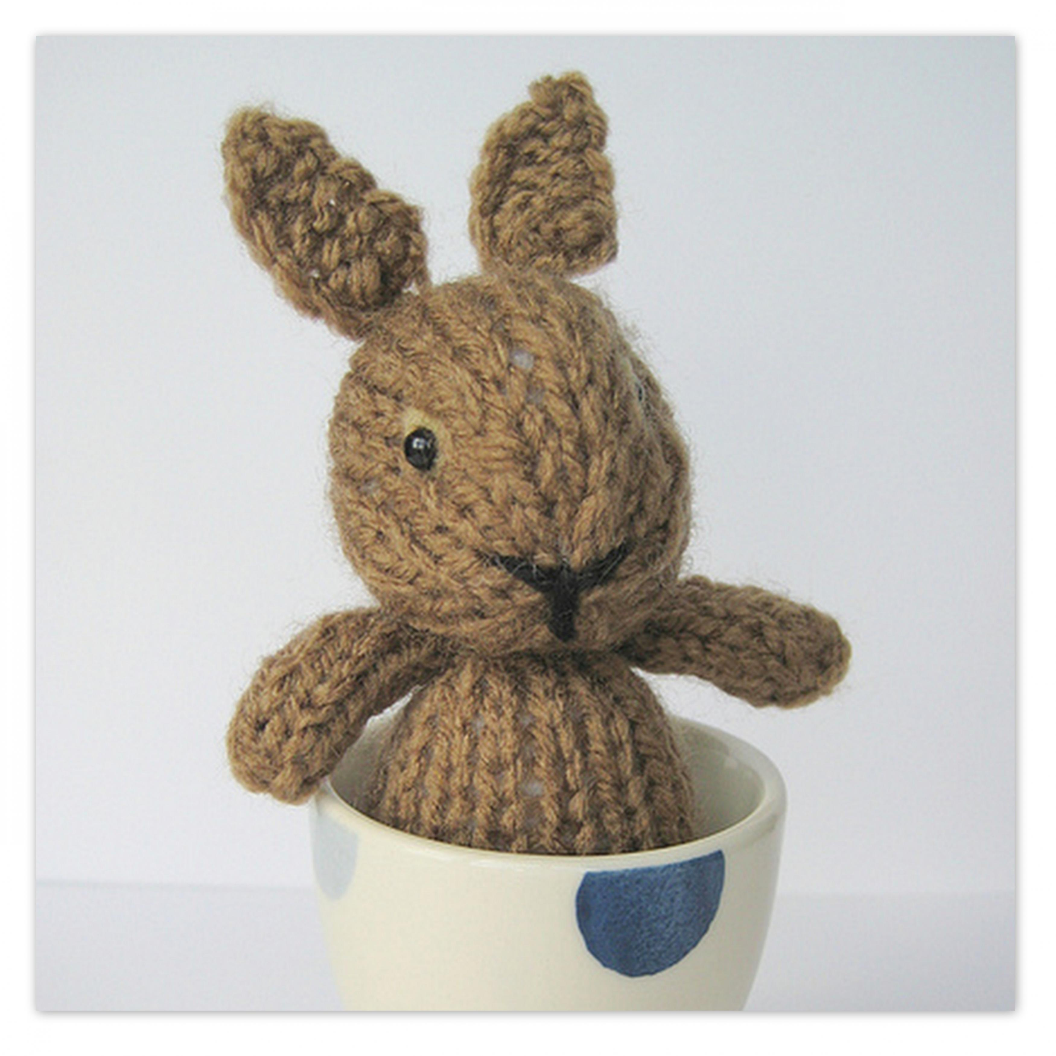 Knitting Patterns For Toy Rabbits : Egg Cup Bunny Toy Knitting Patterns on Luulla